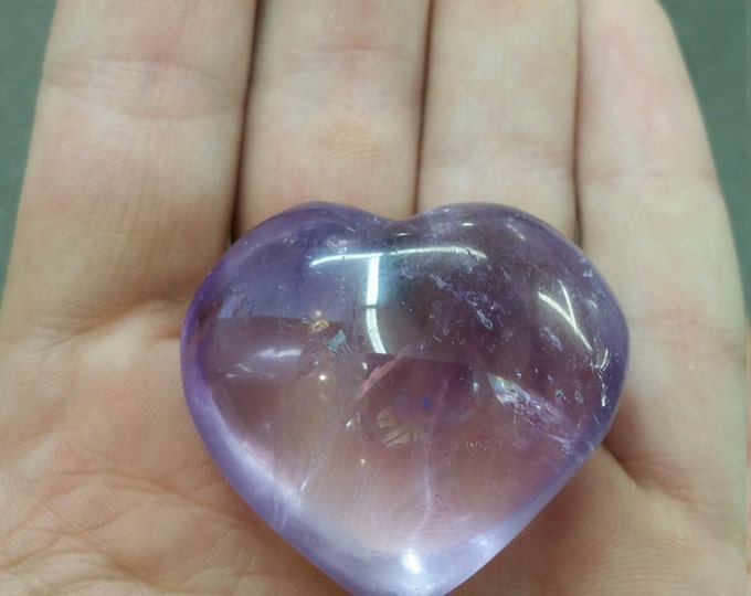 Amethyst Heart 4-5 inch Hand Carved From Uruguay Healing Crystals \ Amethyst Heart \ Heart \ Crystal Heart \ Amethyst Crystal \ Raw Amethyst