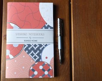 Patterned Notebooks, Set of 3 - Sashiko