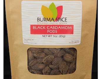 Black Cardamom Pods Bag, 3oz.