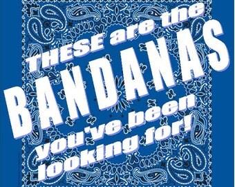 BANDANA - Bandanna. Premium Paisley Hav-A-Hank Bandana. ROYAL Blue. Made in the USA.