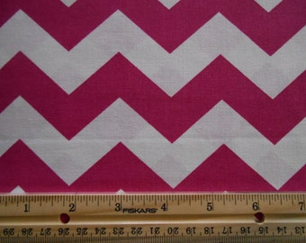 Hot Pink Chevron cotton fabric by the yard