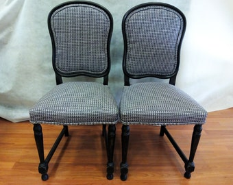 034 Two upholstered chairs
