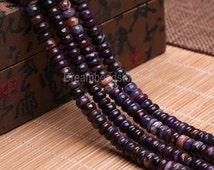 Sugilite Beads, Natural Sugilite Gemstone Beads, 3*7mm Rare High Quality Sugilite Rondelles, Smooth Purple Sugilite Spacer Beads Supplies