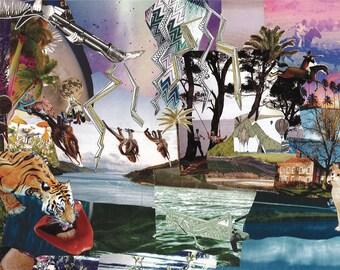 Fantasy Art - giclee print of original collage