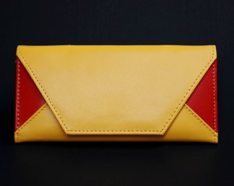 Womens Wallet, Womans Wallet, Leather Wallet, Leather Purse, Yellow Wallet, Yellow Purse, Yellow Leather Wallet, Yellow Leather Purse.