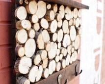 Wooden Tree Branch Coat Rack