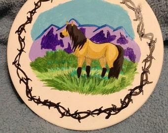 Wild Buckskin Horse