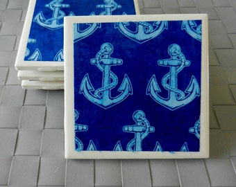 Tile Coasters with Fine Paper