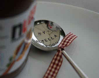 My Nutella Spoon - Hand Stamped Vintage Spoon by MariLouImpressions - Handmade Unique Gift - The Perfect Individual Gift