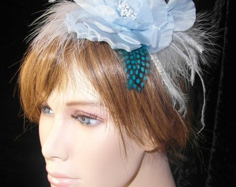 Light blue headband - blue headband