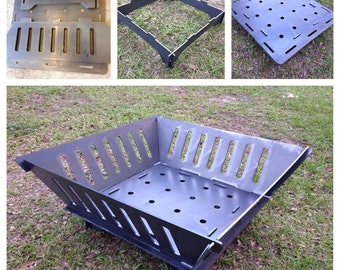 Fire Pit - Collapsibe - Thick 3/16 Steel - Great for Camping!!