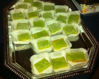 Rosy Mischief lime bars