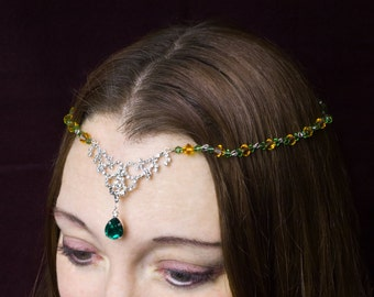 Renaissance Beaded Ladies Circlet Medieval - Style 4252