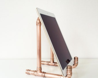 Modern Industrial Handmade Copper IPad/Tablet Stand