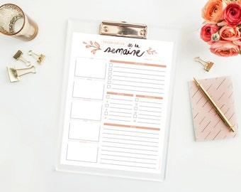 Week Planner - Organizer - weekly - download and print calendar