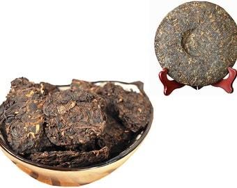 Aged Pu erh Tea - Pu erh Cake - Chinese Tea - Caffeinated - Tea - Loose Tea - Loose Leaf Tea - FREE Shipping