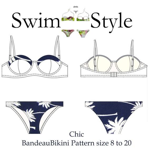 Chic Bandeau bikini pdf sewing pattern