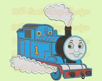 Thomas Train Machine Applique Embroidery Design, Tank Engine,  vl-005