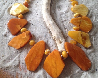 Antik Amber Necklace real butterscotsch Egg Yolk Bernsteinkette 琥珀