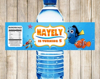 Finding Nemo Water Bottle Labels