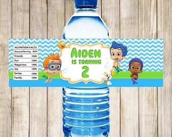 Bubble Guppies Water Bottle Labels