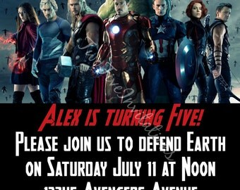 Avengers Digital Invitation