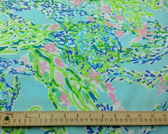 Lilly Pulitzer Fabric Sky Blue Heaven