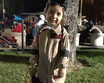 Kids Ghostbusters Costume Ghostbuster Uniform Jumpsuit Flightsuit ONLY Halloween Costume Custom Made