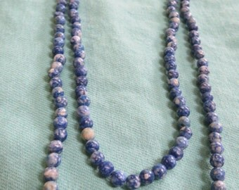 Gorgeous Blue Beaded Necklace