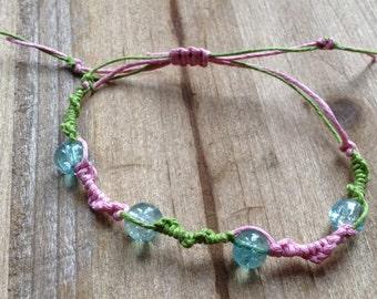 Girl's Mutlti Coloured Chinese Weave Beaded Bracelet