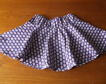 Purple with flowers skirt