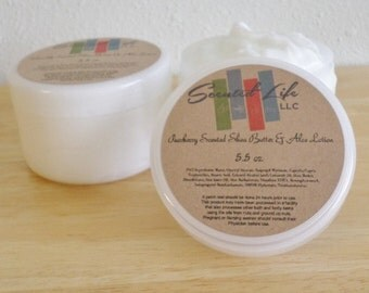 Customize your Scent Shea Butter & Aloe Lotion - Body Lotion - Bath and Body - Moisturizer - Aloe - Mineral Oil Free - Paraben Free - Lotion