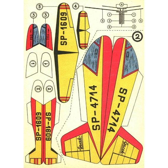 Planos 6 X Modelo De Papel Vintage Para Imprimir Hojas