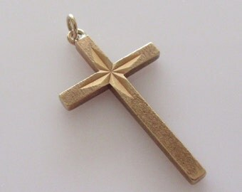 9ct Gold Cross Dated 1973