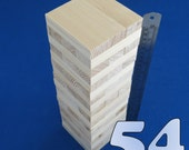 Lot 54 wooden stacking tumbling tower like JENGA blocks PINE wood family board game