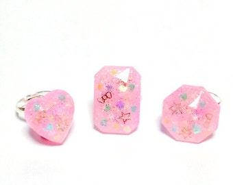 Kawaii sweet rings