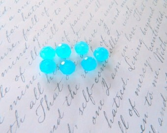 7,Blue,Glass,Rondelles