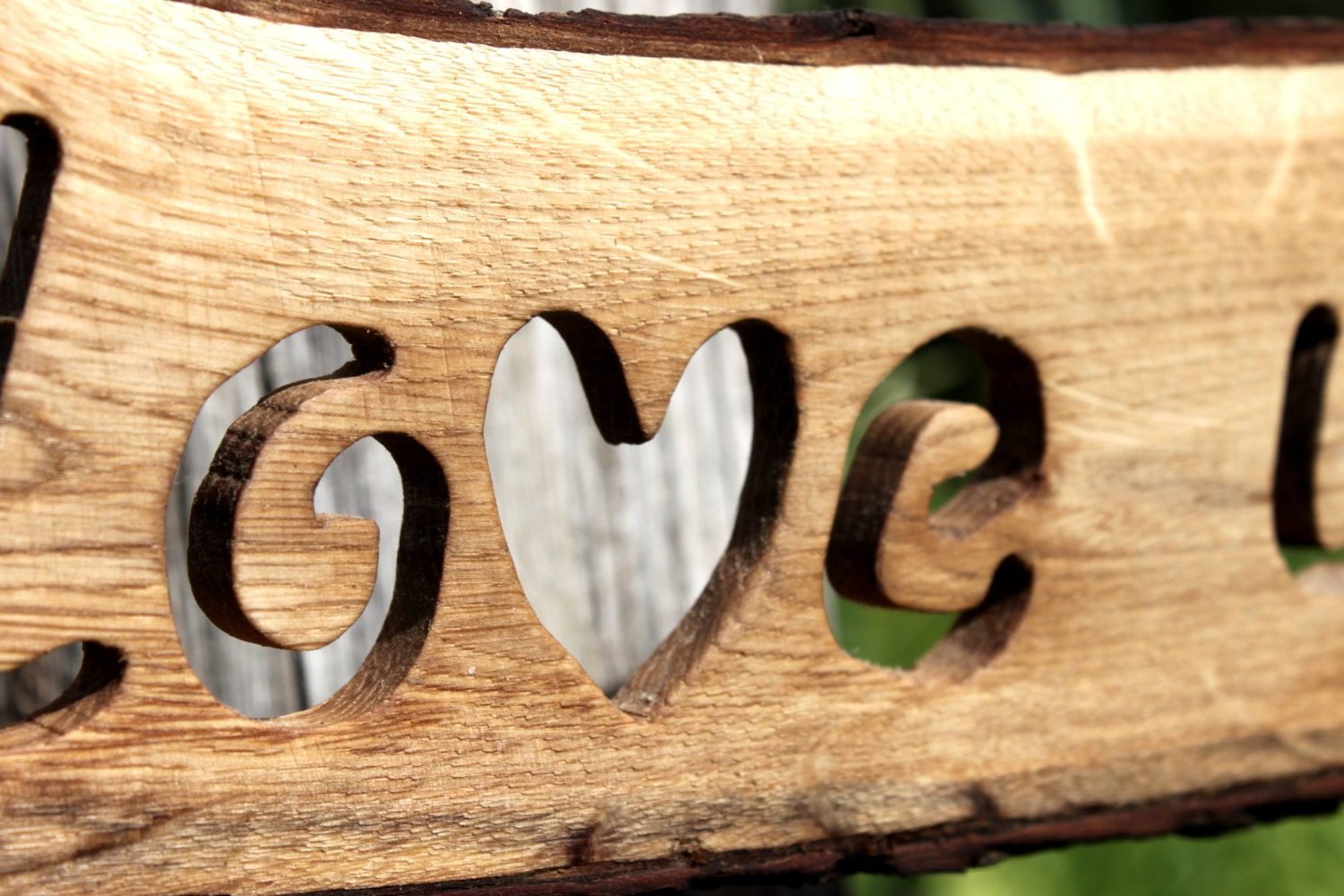 Oak Slice Plank Sign Cut Text Wedding Sign Party Wedding Signs ...