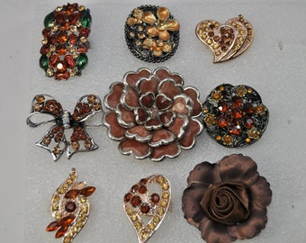 30% OFF Brown Fashion Ring Lot /46