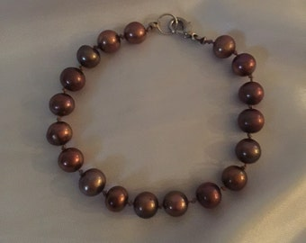 Hand Knotted Freshwater Pearl Bracelet