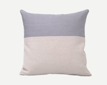 SALE! The Grey Linen Pillow Cover, Natural Linen Pillow Cover