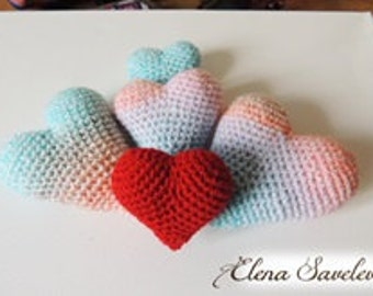 Knitted Hearts (big)