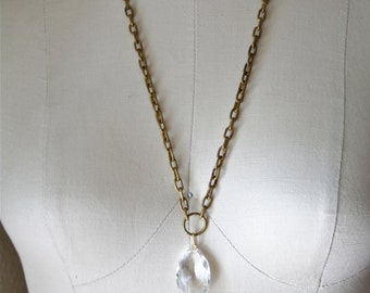 Diamond Chandelier Crystal Necklace