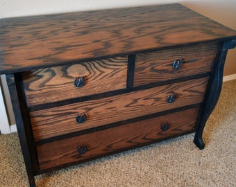 "Country Home Decor, ""Rustic Home Decor"", Solid Oak Dresser, ""FREE SHIPPING"""