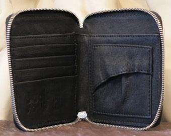 Leather Wallet, Black Matte DS112