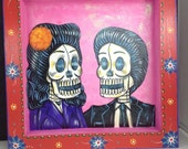 Pachuco couple painting