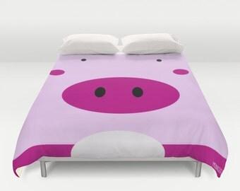 Pig Duvet Cover / / Farm Nursery / Nursery Pillow / Farm Room / Nursery kids / Pig Nursery