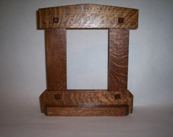 mission arts and crafts style picture frame by longwoodworking