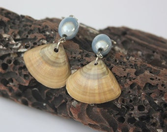 Beach Wedding Bride or Bridesmaid Earrings Boho Wedding Earrings Beach Wedding Shell Jewelry Boho Seashell Jewelry FREE SHIPPING