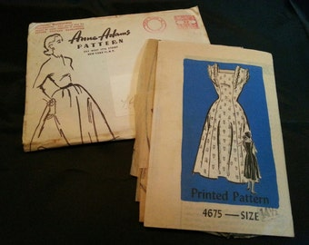 Vintage Anne Adams Dress Pattern 4675
